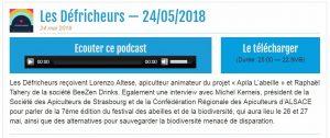 emission radio apila l'abeille Apiscope défricheurs Strasbourg